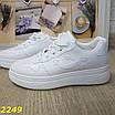 Кроссовки на высокой платформе белые, фото 9