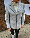 😜 Пальто Чоловіче сіре пальто з коміром, фото 6