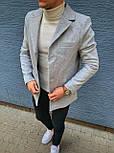 😜 Пальто Чоловіче сіре пальто з коміром, фото 7