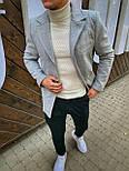 😜 Пальто Чоловіче сіре пальто з коміром, фото 5