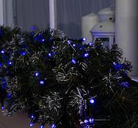 Гирлянда уличная LUMION нить 100LED 10m 230V цвет синий/КАУЧУК черный, IP44 EN