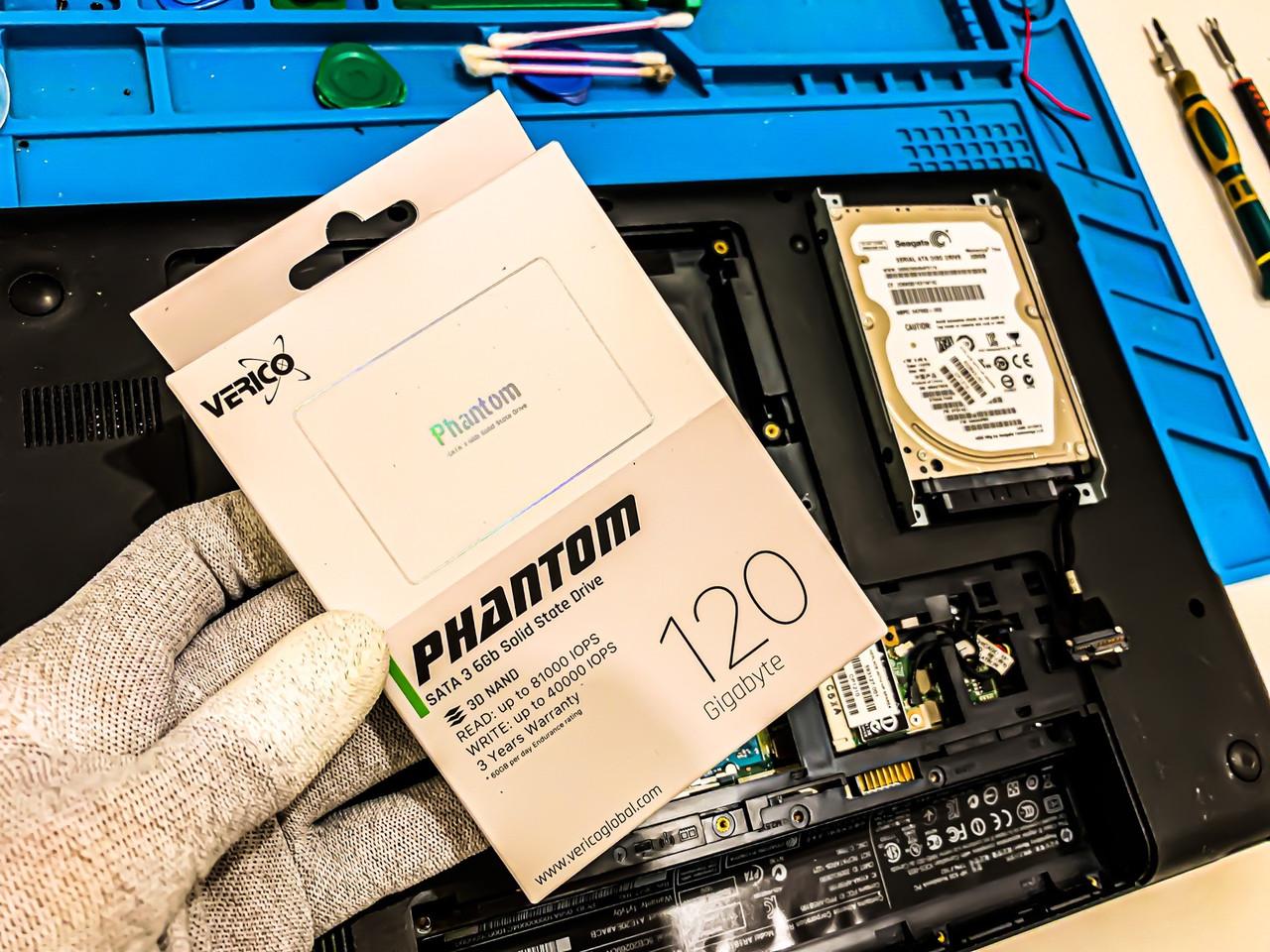 Модернизация ноутбука HP 630 - Замена старого HDD диска на НОВЫЙ SSD накопитель / Киев