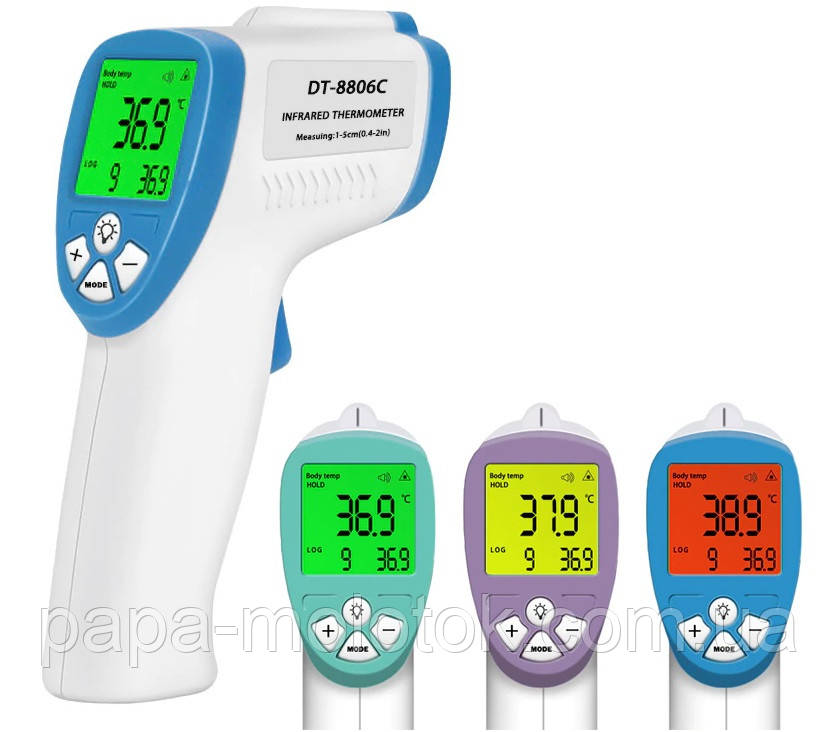Бесконтактный термометр. Моментальное измерение температуры с точностью до десятых. 36.6