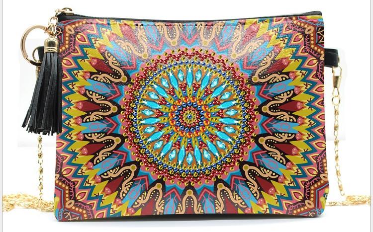 Набор для творчества Crystal art сумка с алмазной мозаикой Мандала (MI_DS01)