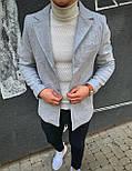 Пальто - Мужское серое пальто, фото 2