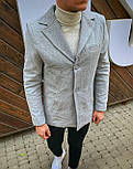 Пальто - Мужское серое пальто, фото 6