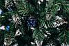 Ель искусственная  3 м Рождественская калина голубая с шишками, фото 3