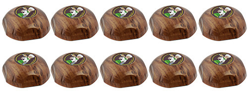 Фото: кнопки вызова официанта HCM-350 Wood Girl - 10 штук - комплект системы вызова RECS №154