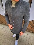 😜 Пальто Чоловіче пальто темно-сірого кольору, фото 4