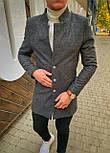 😜 Пальто Чоловіче пальто темно-сірого кольору, фото 6