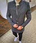 😜 Пальто Чоловіче пальто темно-сірого кольору, фото 5
