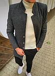 😜 Пальто Чоловіче пальто темно-сірого кольору, фото 3