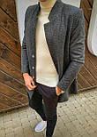 😜 Пальто Чоловіче пальто темно-сірого кольору, фото 2