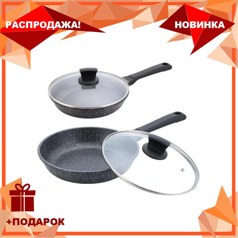 Сковорода с крышкой Maestro MR-1225-20 (антипригарное покрытие Granite, Ø 20 см) | сотейник Маэстро, Маестро