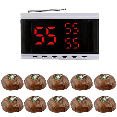 Система вызова официанта RECS №154 | кнопки вызова официанта 10 шт + приемник вызовов