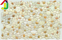 """Панель ПВХ Регул Листовая Премиум Камень """"Галька Перламутровая"""", на стену, на потолок"""