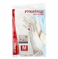 Перчатки латексные Linpac 10шт в упаковке (КОД:0034)