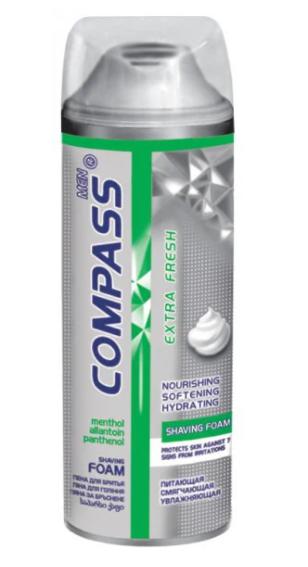 Пена для бритья Compas Extra Fresh 200мл