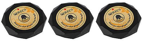 Фото: кнопки вызова официанта R-600 Black Crystal - 3 штуки - комплект системы вызова RECS №155