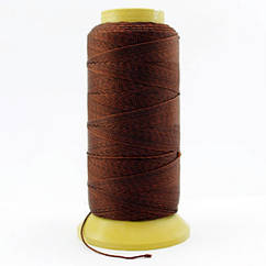 Нить Нейлоновая Швейная в катушках, Цвет: Коричневый, Толщина 0.6мм, около 135м/1катушка