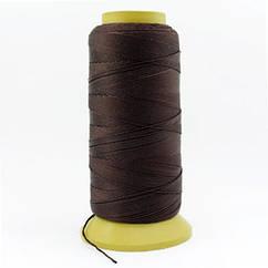 Нить Нейлоновая Швейная в катушках, Цвет: Темно-коричневый, Толщина 0.6мм, около 135м/1катушка