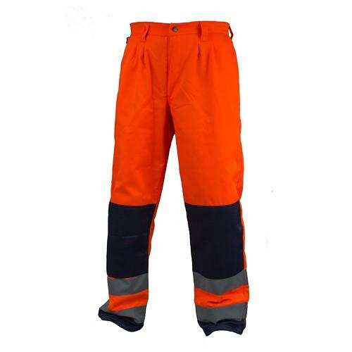 Предупреждающие брюки HSV-WOR из полиэстера и хлопка, оранжевого цвета. Urgent (POLAND)