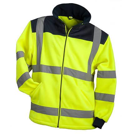 Куртка  HSV YELLOW со светотражающими полосами из флиса, черно-желтого цвета.  Urgent (POLAND), фото 2