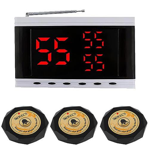 Система вызова официанта RECS №155 | кнопки вызова официанта 3 шт + приемник вызовов