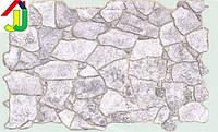 """Панель ПВХ Регул Листова Преміум Камінь """"Дикий Сірий"""", на стіну, на стелю"""