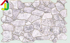 """Панель ПВХ Регул Листовая Премиум Камень """"Дикий Серый"""", на стену, на потолок"""