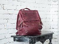 """Рюкзак из натуральной кожи Crazy Horse """"TRIP  L"""" марсала, фото 1"""