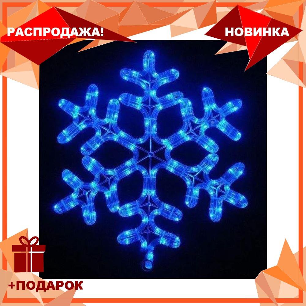Лента LED снежинка 4м (Микс) 7193, Новогодняя бахрама, Светодиодная гирлянда, Уличная гирлянда