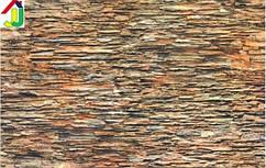"""Панель ПВХ Регул Листовая Премиум Камень """"Плоский Коричневый"""", на стену, на потолок"""