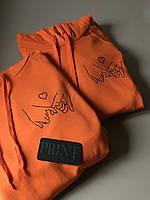 Парные толстовки с капюшоном и кармашком для парня и девушки Руки с Сердечком