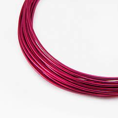 Алюминиевая Проволока 1.5мм/6м, Цвет: Малиновый, Толщина 1.5мм, около 6м/моток, 1 шт