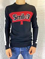 Свитер мужской Engelz черный с красной полоской SMILE M-XXL