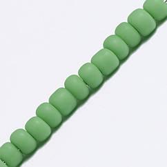 Бисер Китайский 12/0, Матовый Непрозрачный (FCo), Цвет: Зеленый М47, Круглый, 100 г