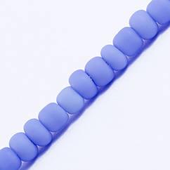 Бисер Китайский 12/0, Матовый Непрозрачный (FCo), Цвет: Голубой М43, Круглый, 100 г