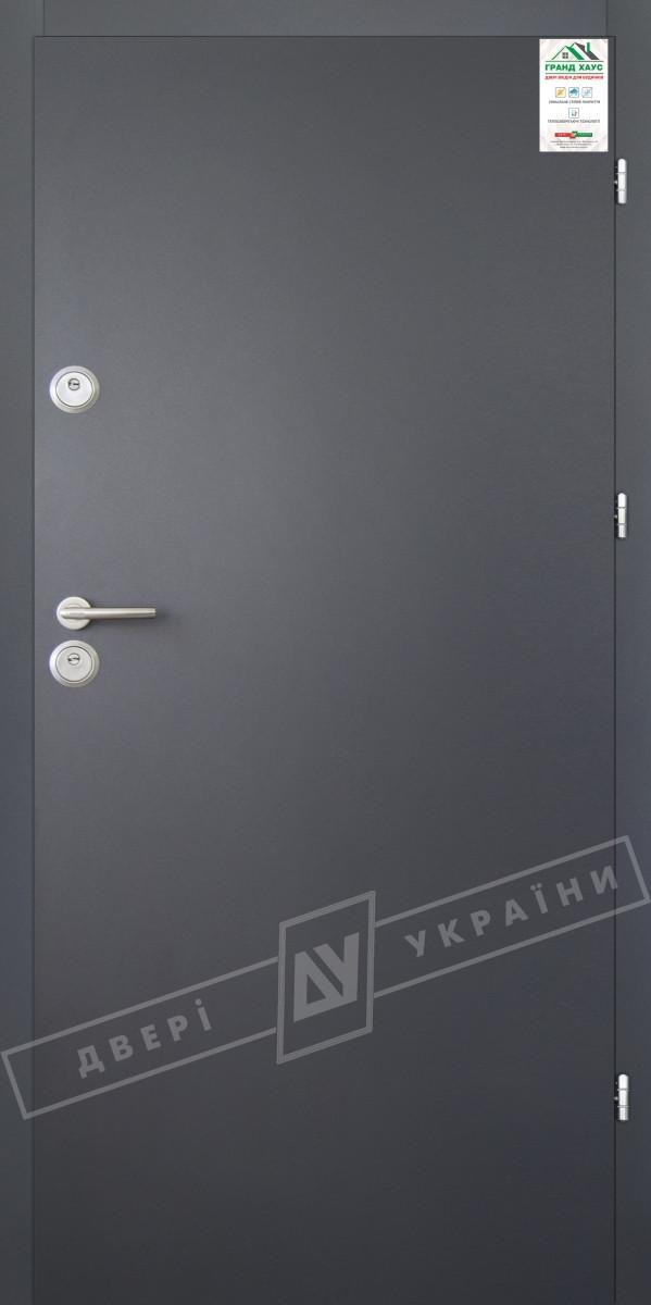 "Двері вхідні вуличні серії ""GRAND HOUSE 56 mm"" / модель ФЛЕШ / колір: Графіт металік муар"