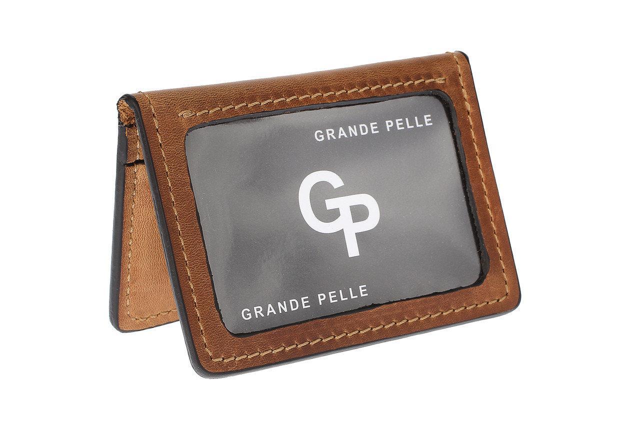 Обложка для автодокументов Grand Pelle кожа Коричневый 2111232, КОД: 1692579