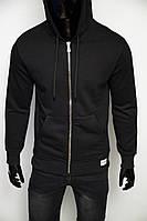 Кофта на молнии с капюшоном Fashion Republic 3101 черная