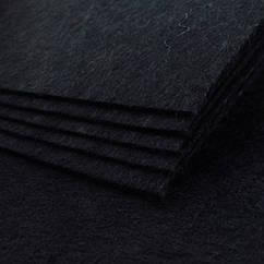 Фетр, Полиэстер, Цвет: Черный, Размер: 298~300x198~200x2мм, 1шт 1 шт