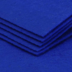 Фетр, Полиэстер, Цвет: Синий, Размер: 298~300x298~300x1мм, 1шт 1 шт
