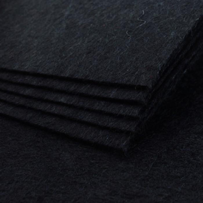 Фетр, Полиэстер, Цвет: Черный, Размер: 298~300x298~300x1мм, 1шт/ Упак.: 1 шт