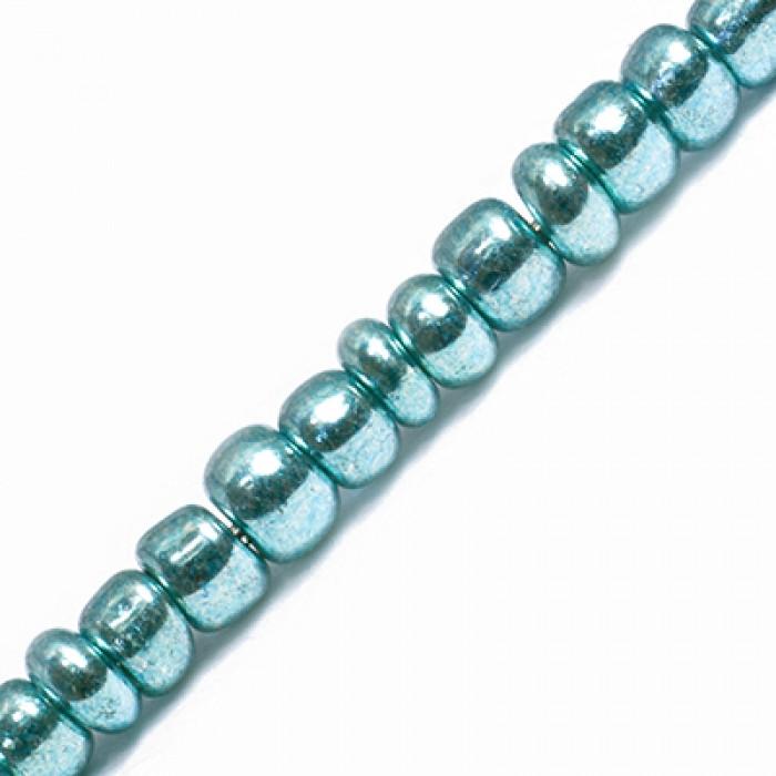 Бисер Китайский 12/0, Металлический (MC), Цвет: Зеленый 1118, Круглый/ Упак.: 100 г