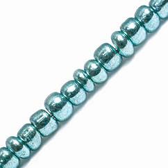 Бисер Китайский 12/0, Металлический (MC), Цвет: Зеленый 1118, Круглый, 100 г