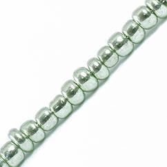 Бисер Китайский 12/0, Металлический (MC), Цвет: Зеленый 1112, Круглый, 100 г