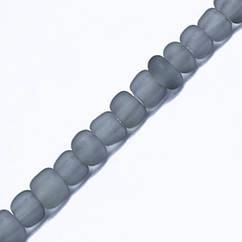 Бисер Китайский 12/0, Матовый (FC), Цвет: Серый M12, Круглый, 100 г