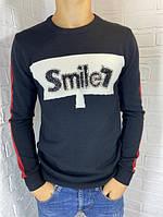 Свитер мужской Engelz черный с белой полоской SMILE M-XXL
