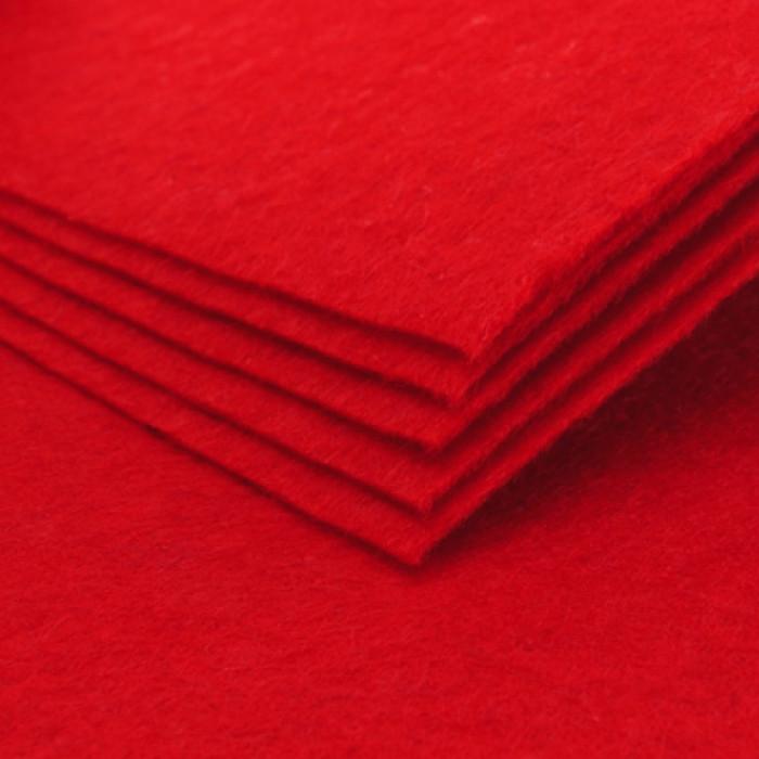 Фетр, Полиэстер, Цвет: Красный, Размер: 298~300x298~300x1мм, 1шт/ Упак.: 1 шт